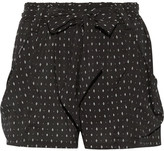 Hatch Stroll Printed Stretch-crepe Shorts - Black