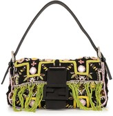 Fendi Pre Owned bead embroidered Mamma baguette hand bag
