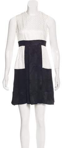 Alexander McQueen Paneled Jacquard Dress w/ Tags