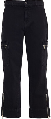 7 For All Mankind Biker Cargo Cropped Cotton-blend Twill Straight-leg Pants