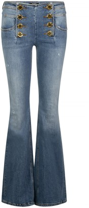 Balmain Buttoned Flared Jeans