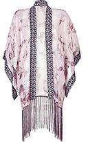 ANNA SUI Silk Blend Fringed Kimono