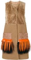 Drome fringed sleeveless fur jacket
