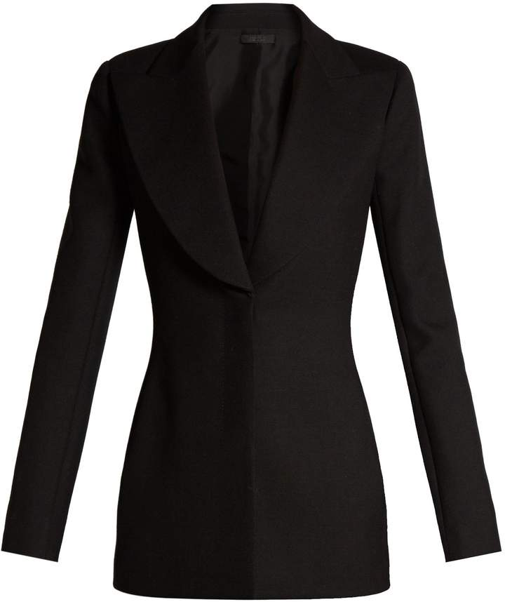 The Row Demilla peak-lapel wool-blend jacket