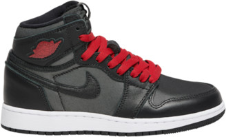 Jordan Retro 1 High OG Basketball Shoes - Black / Metallic Silver Gym Red