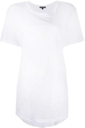 Ann Demeulemeester slogan print longline T-shirt