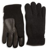 Portolano Paneled Cashmere Gloves