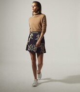 Thumbnail for your product : Reiss Jenny - Printed Mini Skirt in Navy