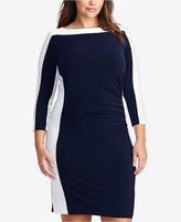 Lauren Ralph Lauren Plus Size Two-Toned Bateau Dress