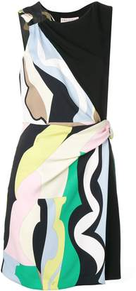 Emilio Pucci Vallauris Print Draped Dress