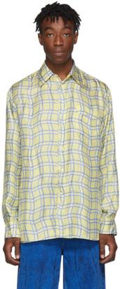 Marni Yellow Silk Check Shirt