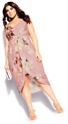 City Chic English Bouquet Dress - blush