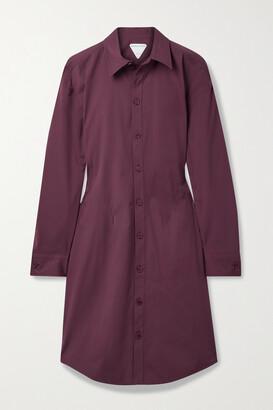 Bottega Veneta Stretch-cotton Poplin Shirt Dress - Burgundy