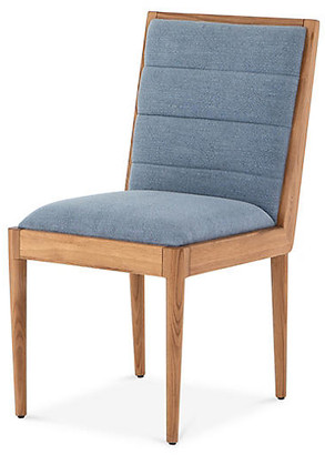 One Kings Lane Tracey Boyd Fiscal Side Chair - Light Blue