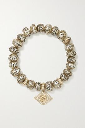 Loree Rodkin Evil Eye 14-karat Gold, Pearl And Diamond Bracelet