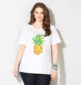 Avenue Pineapple Embellished Tee