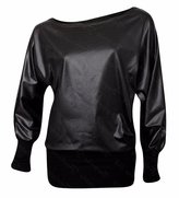 Forever Womens Off Shoulder Printed Plus Size Batwing Stretchy Top