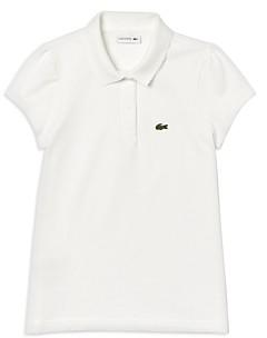 Lacoste Girls' Short-Sleeve Petit Pique Polo Shirt - Little Kid, Big Kid