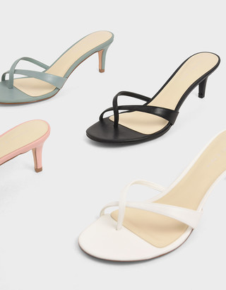 Charles & Keith Toe Strap Heeled Sandals