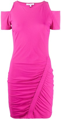 Patrizia Pepe Shoulder Cut-Out Ruched Dress