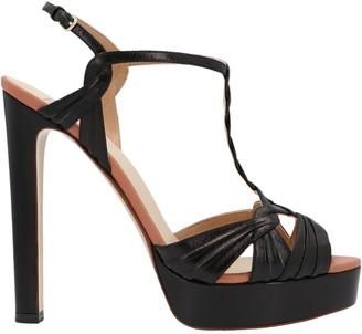 Francesco Russo Woven Strap Platform Sandals