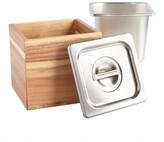 World Market Wood and Stainless Steel Kitchen Compost Bin