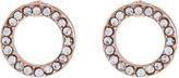 Accessorize Diamante Circle Stud Earrings