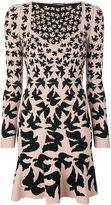 Alexander McQueen bird print dress - women - Polyamide/Polyester/Spandex/Elastane/Viscose - XS