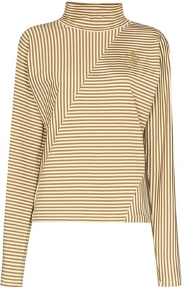 J.W.Anderson Cropped Logo-Embroidered Top