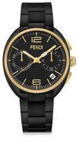 Fendi Momento Goldtone & Black Stainless Steel Chronograph Bracelet Watch