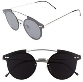 Spitfire Women's Trip Hop 55Mm Sunglasses - Silver/ Black