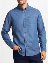 John Lewis Smarter Denim Shirt, Blue