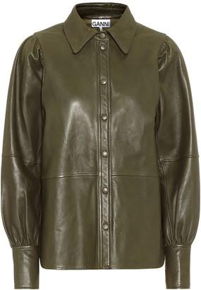 Ganni Leather shirt