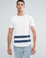 Ringspun Baseball Pocket T-shirt With Curved Hnem