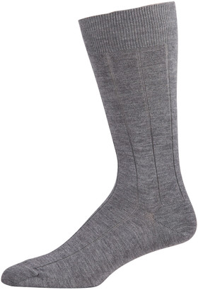 Marcoliani Milano Men's Light Cashmere Ribbed Dress Socks