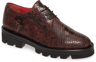 Pas De Rouge Lotty Snake Embossed Platform Derby