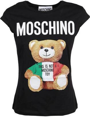 Moschino Italian Teddy Bear Printed T-Shirt