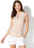 New York & Co. 7th Avenue Sleeveless Top - Tan