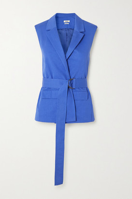 Jason Wu Belted Cotton-blend Vest - Light blue