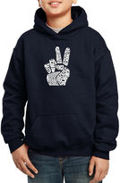 LOS ANGELES POP ART Los Angeles Pop Art CreatedUsing Words Give Peace A Chance Hoodie-Big Kid Boys