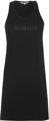 Calvin Klein Mesh Tank Dress Ladies