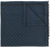 Emporio Armani logo pattern scarf - men - Modal/Virgin Wool - One Size