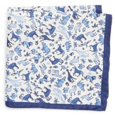 Eton Men's Animal Print Silk Pocket Square