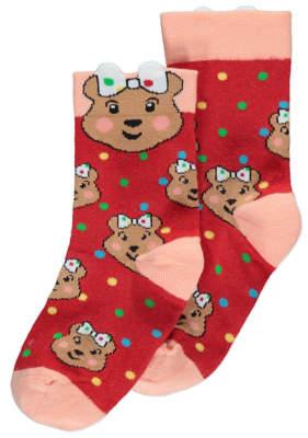 George Children in Need Blush Bear Ankle Socks