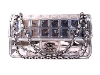 Chanel Silver Leather Handbags
