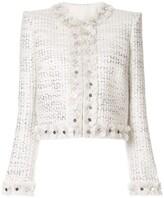 ZUHAIR MURAD metallic thread tweed jacket