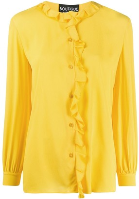 Boutique Moschino Long-Sleeved Ruffled Blouse