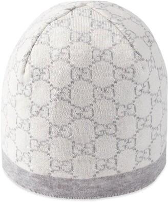 Gucci Kids Baby GG pattern wool hat