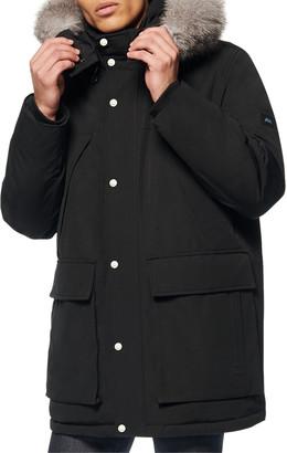 Andrew Marc Men's Down-Filled Parka Coat w/ Fox Fur-Trim