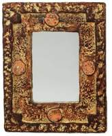 Rustic Wood Mirror, 'Hand of the Lord'